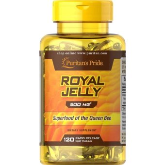 Puritan's Pride Royal Jelly 500mg for Immunity, Anti-aging, Asthma,Insomnia, Cholesterol bottle of 120 Softgels