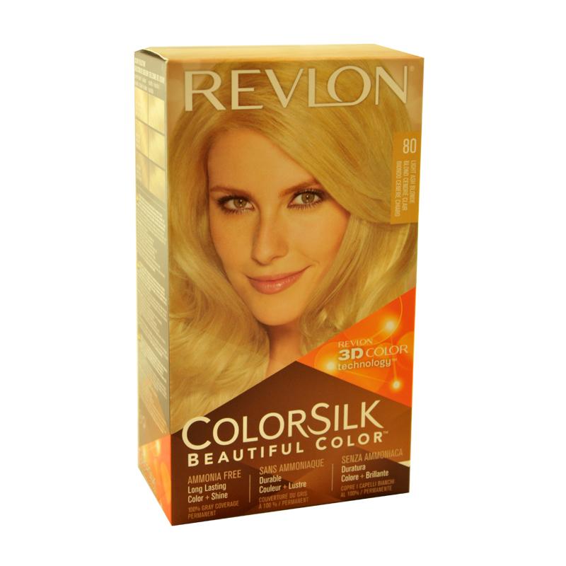 Revlon Color Silk Beautiful Color Ammonia Free No. 80 (Light Ash ...