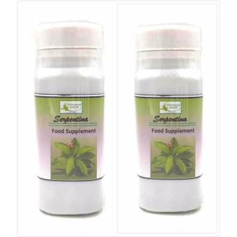 Serpentina Capsules Natural Herb Food Supplement Bottle of 100pcs Set of 2