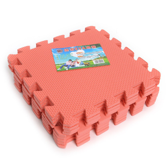 9pcs Anti-fatigue Puzzle Floor Foam Mats (Red)