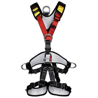 BolehDeals BolehDeals Outdoor Rock Climbing Rappelling Full Body Safety Harness Wearing Seat Belt