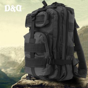 D&D PT-02 Outdoor Camouflage Military Mountaineering Backpack Hiking Travel Bag Shoulder 3P Tactical Backpack (Black)