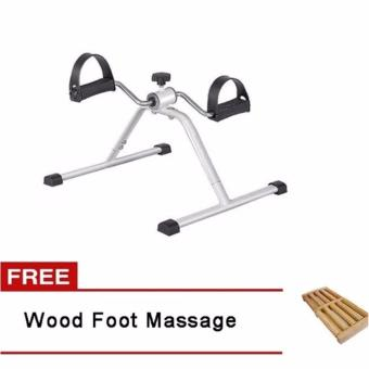 Easy Exercise Bike (Black/Grey) with Free Wood Foot Massage