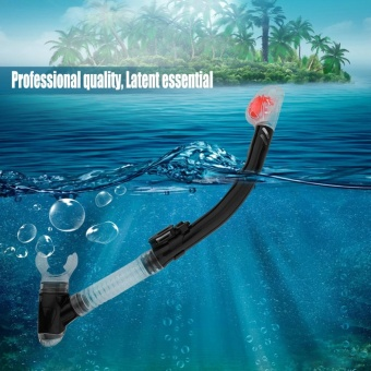Full Dry Snorkel Diving Snorkling Swimming Apparatus Breath Tube Underwater - intl
