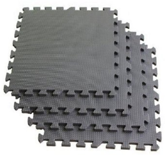 Interlocking Gym Floor Mats Set of 4 (Dark Gray)