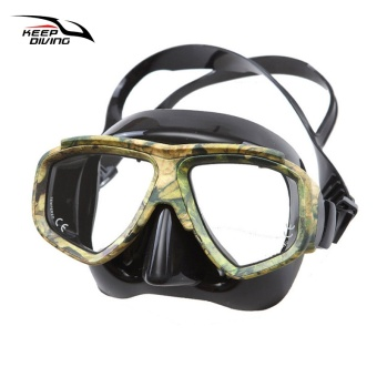 KEEP DIVING Professional Disguise Camouflage Scuba Dive Mask Myopic Optical Lens Snorkeling Gear Spearfishing Swim Goggles - intl