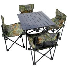 New Portable Folding Outdoor Dining Table And Chair Set Camoulage