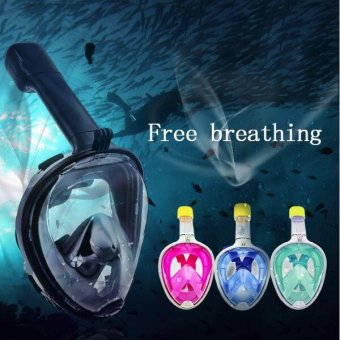 New Underwater Full Face Diving Snorkeling Mask Set SwimmingTraining Scuba For Gopro Camera 180?Panoramic Anti-Fog - intl