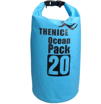 Ocean Pack Portable&Outdoor Waterproof Dry Bag 20L (Blue)