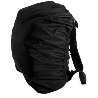 Outdoor Waterproof Backpack Rucksack Rain Cover Bag Rainproof Pack Cover for Camping Hiking (Black)