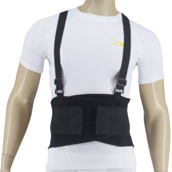 PROCARE PROTECT #BS08 Lumbar Back Support, 8-inch width ElasticLoom Surround the Back with 5pcs Stabilizer Support