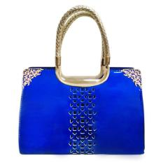 ... 360DSC Women Love Fashion Hollow Pattern Patent Leather Stereotypes Handbag Ladies Top Handle Bag Sapphire