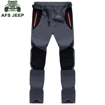 AFS JEEP Men's Pizex Waterproof Quick Drying Thin Breathable ParkaPant(Color:Dark Grey) - intl