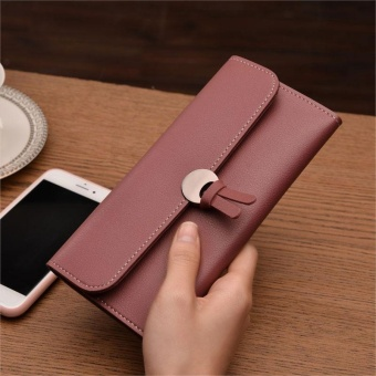 Amart Fashion Korean Women Long Purse Leather Clutch Bags Zipped Card Holder Wallet Coin Bag For Gift - intl