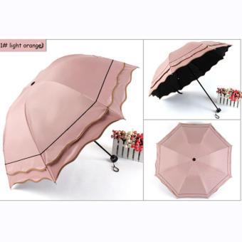 Anti-uv Sun Protection Umbrella 3 Folding Rain Umbrellas For Women - intl