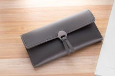 PHP 437. BAELLERRY New Design Women's Wallets 3 Fold PU Leather Korean Style Multi-Card Bit Ladies Wallet - Grey ...