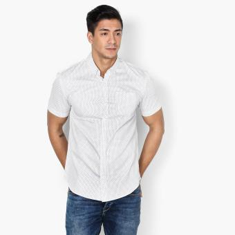 Baleno Mens Dotted Casual Shirt (White)