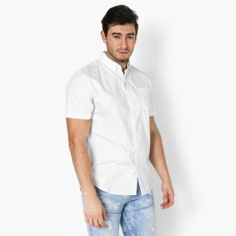 Baleno Mens Printed Casual Shirt (White)