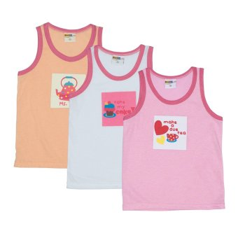 bebe by so en 3 in 1 kids sando with print pink asstd