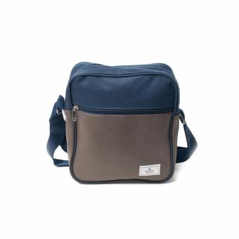 BENCH- BGM0614BUBR Medium Sling Bag (Blue/Brown)