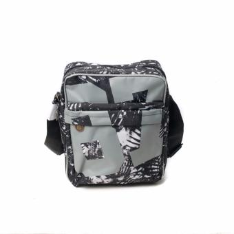 BENCH- BGM0642BKGY Printed Sling Bag (Black/Grey)