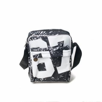 BENCH- BGM0642BKWH Printed Sling Bag (Black/White)