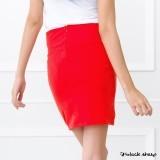 Blacksheep Bodycon Mini Skirt With Zipper Back Detail (Red)