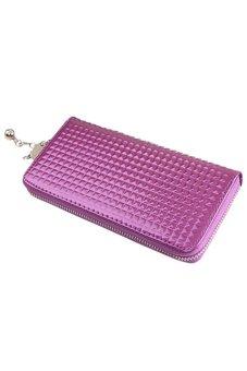 Bluelans Women Zip PU Leather Clutch Case Wallet Purse (Purple)