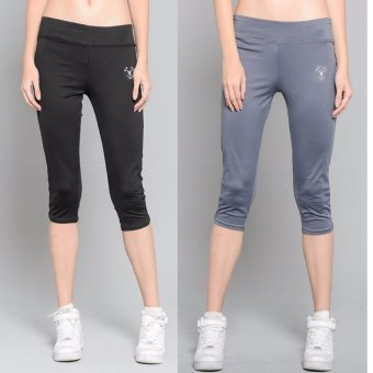 BUY 1 TAKE 1 Outperformer Casual Capri Pants with 3D Extra Stretchand Dry Max Technology (Ebony and Ashton Gray)