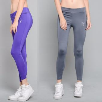 BUY 1 TAKE 1 Outperformer Casual Yoga Leggings with Extra Stretchand Dryperform (Vivid Violet and Military Gray)
