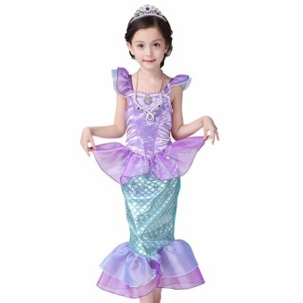 Children Baby Girl Clothes Little Mermaid Fancy Kids Girls Mermaid Dresses Princess Ariel Cosplay Halloween Costume mermaid-tail - intl