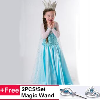 Cosplay Party Dress Up Girls Princess Dress Halloween Costumes for Girls - intl