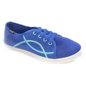 Crissa Steps Ciara Lace-up Shoes (Navy Blue)