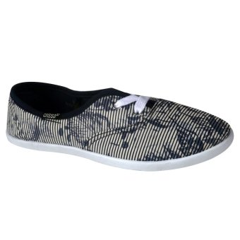 Crissa Steps Raiz Laced-Up Shoes (Navy Blue)