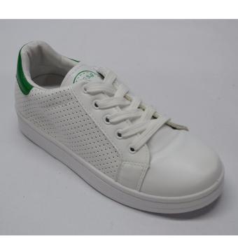 Crissa Steps Sports shoes (White/Green)