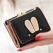 Cute female student cartoon rabbit wallet New style women's wallet (Black)