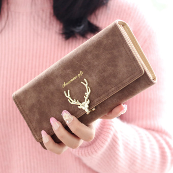Cute matte deer wallet short wallet (Long PARK'S)