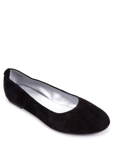 Doll Me Up Shoes Simply Suede Ebony Flats (Black)