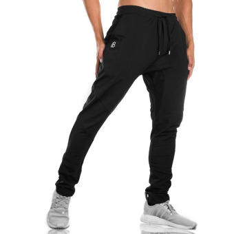 Dr. men's running training basketball clothing fitness pants (Black) (Black)