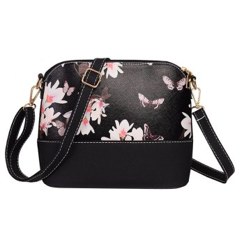 EsoGoal Flower Pattern Leather Messenger Bag Crossbody Shoulder Bags For Women, Flower - intl