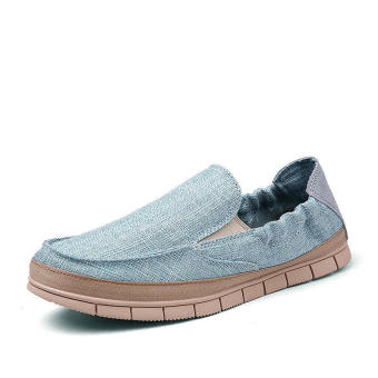 Fashion Flaxt Men Low Cut Loafers – Blue