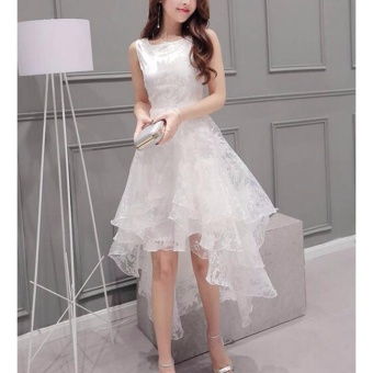 Formal Prom Bridesmaid Dress Cocktail Party Ball Gown Evening Bridesmaid Irregular Dress - intl