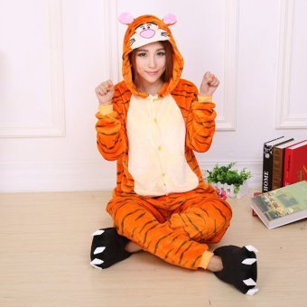 GETEK Tigger Adult Unisex Pajamas Cosplay Costume Onesie SleepwearS-XL (Yellow)
