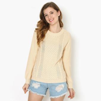 GTW Urban Pullover Knitted Sweatshirt (Cream)