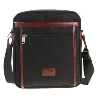 Hickok Essentials Shoulder Bag with Zippered Front Pocket (Black)