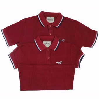 Hollister Couple Polo Shirt(Maroon)