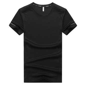 I summer large short sleeved t-shirt (Black)
