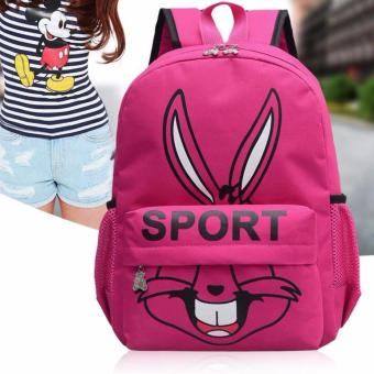 Isabel K044 Fancy Korean Backpack (Pink)