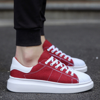 Korean-style autumn New style men shoes (Red)