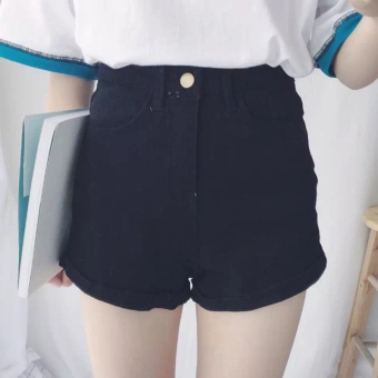 Korean-style black spring and summer New style casual pants curling cowboy shorts